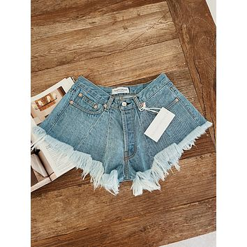Flared Classic High Waisted Shorts