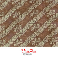 Vintage Saree Tissue Used Sari Supplies Weaving Home Decor Scrap Crafted Indian Saree Fabric Brown Dress Material Sewing Fabric SR/VNL/4331