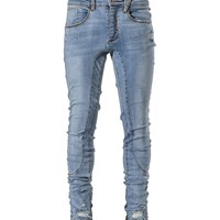 The Ankle Blow Out Denim - Stone Blue