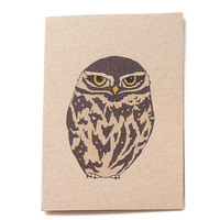 little owl card (100% recycled)