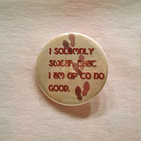 I Solemnly Swear - Harry Potter Marauder's Map - 2.25 inch button or magnet