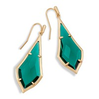 Olivia Drop Earrings in Emerald Glass | Kendra Scott
