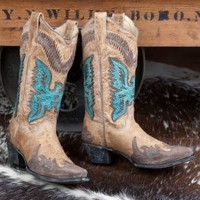 Antique Saddle Thunderbird Boots By Corral