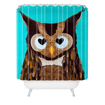 Mandy Hazell Owl Love You Shower Curtain