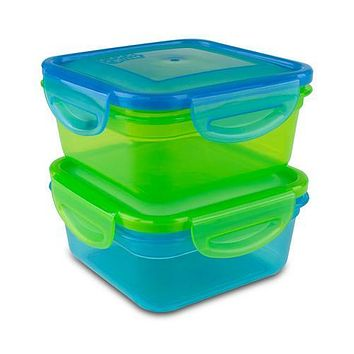 Cool Gear Air Tight Food Storage Lunch Box 1.85 CUP BPA-free 2-Pack