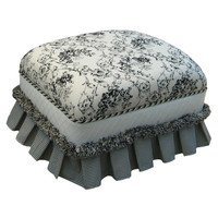 Angel Song 221021127 Toile Black Adult Club Gliding Ottoman