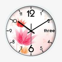 Fashion Floral Art Wall Clock In White