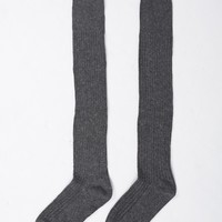 Thigh High Wool Socks - Gray