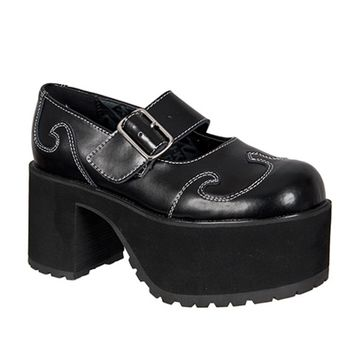 Womens Mary Jane Platform Shoes - TUK Shoes - SinisterSoles.com