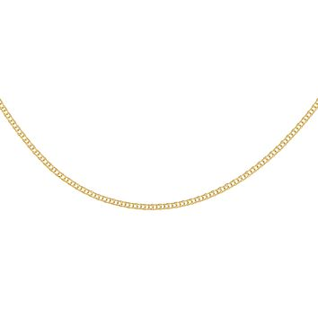 Flat Wheat Chain Necklace 14K