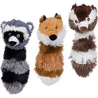 Petco Squeaky Head Raccoon, Chipmunk or Fox Dog Toy