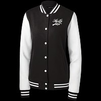 Tommy Gun Hustle Sport-Tek Women's Fleece Letterman Jacket
