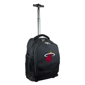 Miami Heat Wheeled Premium Backpack