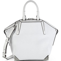 Emile Perforated Leather Satchel