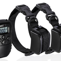 Remote Dog Training Collar Rechargeable And Waterproof Vibration Shock Electronic 300M 100Level Dog Electric Collars For 2 Dogs