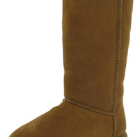 "Bearpaw Emma Tall 612 12"" Womens Boots Sheepskin Suede"