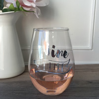Wine Time Glass