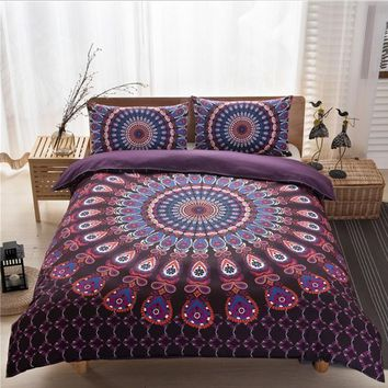 bohemia 3d comforter Mandala bedding sets duvet cover set winter bedsheet Pillowcase queen size Cotton Bedlinen