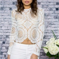 Second Life White Lace Blouse
