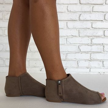 Next Stop Suede Flats in Clay