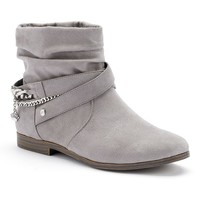 Juicy Couture Women's Slouch Ankle Boots (Grey)