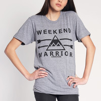 Weekend Warrior T-Shirt - Black/Gray