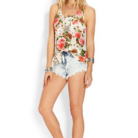Floral Crocheted Tank