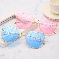 FENDI Popular Women Personality Square Frame Shades Eyeglasses Glasses Sunglasses