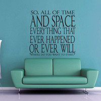 All of TIme and Space - Doctor Who Wall Decal
