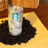 Upcycled Starbucks Coffee Scented Candle-Cup