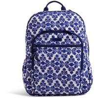 Vera Bradley Campus Backpack in Cobalt Tile