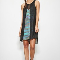 Evil Twin Iridescent Print Layered Dress