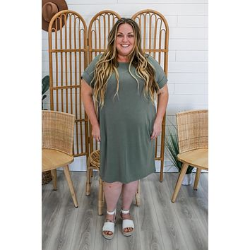 Ready & Willing Dress + Light Olive