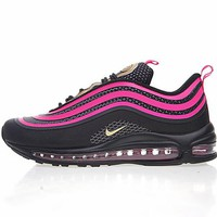 "Nike Air Max 97 UL '17 Retro Running Shoes ""Black&Pink""927508-002"