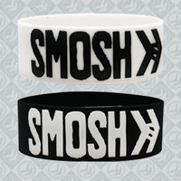 SMOSH Logo Wristband Package (White and Black) Accessory - Smosh Accessories - Official  Online Store on District Lines