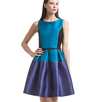 Belle Badgley Mischka Colorblock Fit-and-Flare Dress | Dillards.com