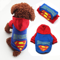 Pet Dog Clothes Puppy Dog Coat Hoodies Clothes Superman Small Dog Costumes