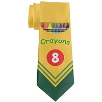 Fun Crayon Box All Over Neck Tie