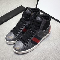 Gucci Men popular Boots popularable Casual leather Breathable Sneakers Running Shoes