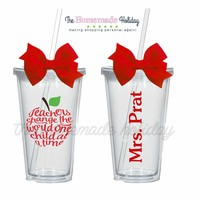 Teachers change the world one child at a time tumbler