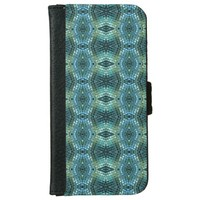 Beautiful Green and Blue Glass Mosaic iPhone 6/6s Wallet Case