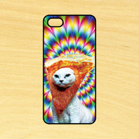 Trippy Pizza Face Cat iPhone 4/4S 5/5C 6/6+ and Samsung Galaxy S3/S4/S5 Phone Case