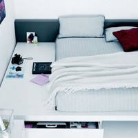 Double bed SQUARE by Novamobili