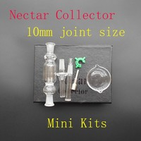 Micro Nectar Collector Kit Micro NC 10mm with Glass titanium nail Nectar Pipe water smoking pipe Glass Bong Bongs oil rig Hookahs use