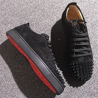 Christian Louboutin CL Low Style #2075 Sneakers Fashion Shoes Online