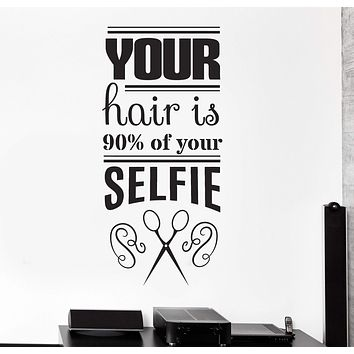 Vinyl Wall Decal Funny Hair Salon Quote Barbershop Stylist Stickers Unique Gift (ig4400)