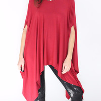 Women's Dress'd Tunic Top in Black or Red
