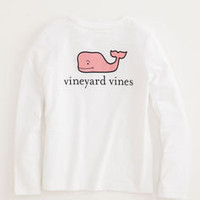 Girls T-Shirts: Long-Sleeve Logo Tee for Girls – Vineyard Vines