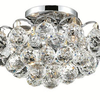 Brigitte - Semi Flush Mount (4 Light Modern Semi Flush Mount Crystal Chandelier) - 6890F12