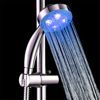 Handheld 7 Colors LED Light Water Bath Home Bathroom Shower Head Glow Quality first p6